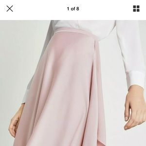 BCBGMaxazria Asymmetrical Skirt Size L, Tea Rose
